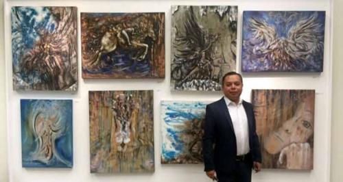 Alejandro Dorantes: Tér és idő festménykiállítása és megnyitója