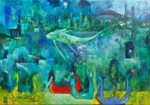 Ivonne Kennedy: Önjáró gépezet / La Máquina de Imaginar festménykiállítás