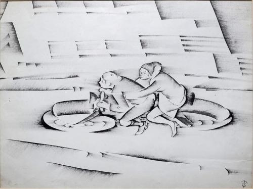 """Molnár-C. Pál: """"Kor-rajz"""" kiállítás"""