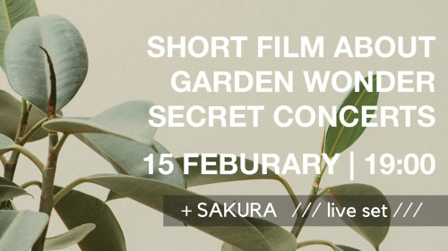 Short Film Release Party x Sakura live set & pop-up installation