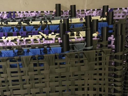 Cecil & Shadow Tér/Fény Beltéri nemez installáció a Defo Laborban