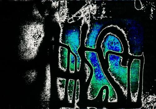 HAász Ágnes Elektro-Graffiti című elektrográfiai kiállítása az Enter Barban