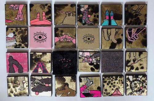 Gáspár Annamária When I choose my colour It will be razzle dazzle rose című kiállítása a Kelet Kávéz