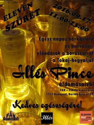 A Tokaji Illés Pince borkóstolója borvásárral