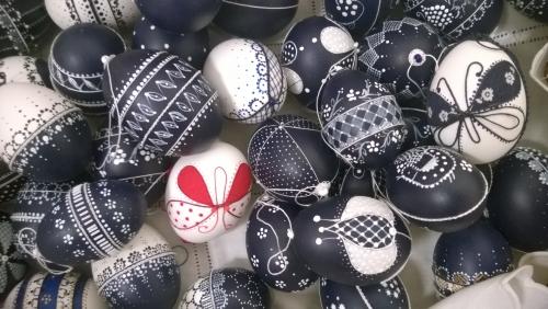Sajben Edit hímes tojás kiállítása