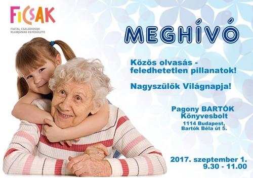 Nagyszülők, unokák! Közös olvasgatás a Pagonyban