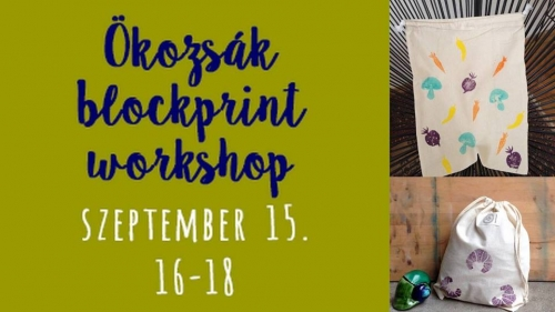 Ökozsák blockprint workshop a Fiókban