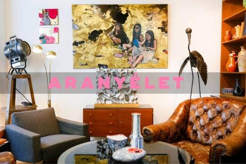 Aranyélet - Gáspár Annamária festőművész kiállítása lakásenteriőrben