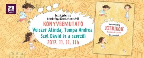 Könyvbemutató: Paulon Viktória Kisrigók - Három gyerek hazatalál