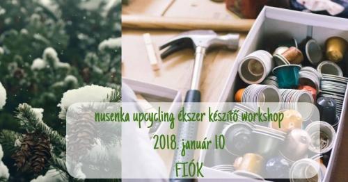 Nusenka upcycling ékszerkészítő workshop a Fiókban