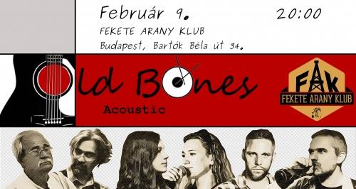 Old Bones-koncert a FAK-ban!