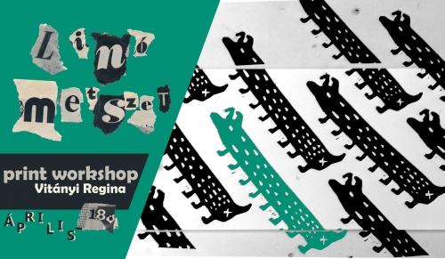 Linómetszet print workshop